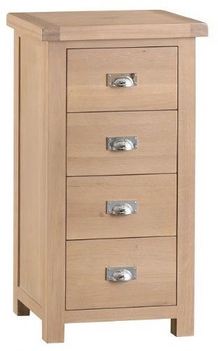 Oxford Oak 4 Drawer Narrow Chest
